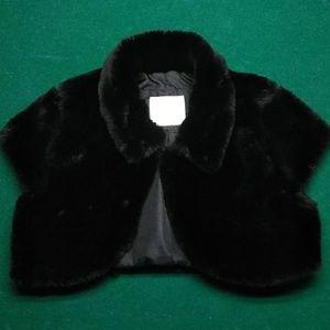 Girls black shrug cape size 8/10